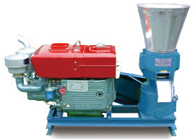 diesel engine straw pellet mill