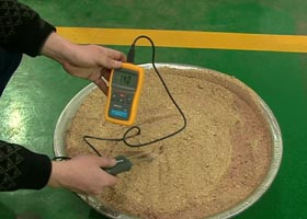 moisture of rice straw
